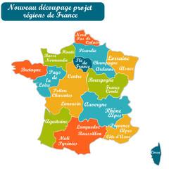 Nouvelle carte des régions de France Projet