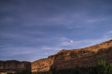 Night Starry Sky near Porcupine ridge Trail Moab Utah
