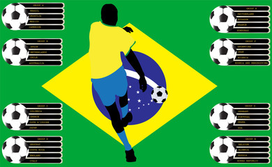 Soccer player and group vector