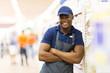 african supermarket worker portrait