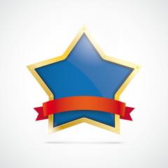 Golden Star Red Flag