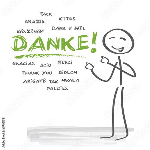 Danke Wortwolke multilingual