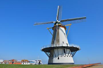 windmill on the coast in Vlissingen, Netherlands