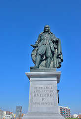 Memorial of 17th century admiral in Netherlands