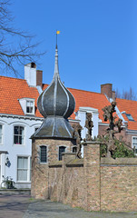 Medieval architecture of center of Middelburg