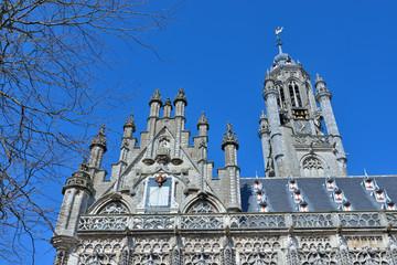 medieval city hall in Middelburg, Netherlands