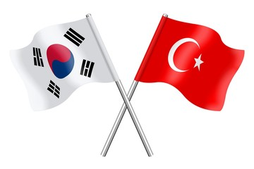 Flags : South Korea and Turkey