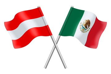 Flags : Austria and Mexico