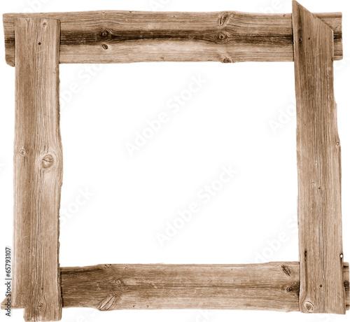 Tuinposter Hout Holz Rahmen