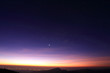 Landscape of sunrise in the morning with star in the sky - 65793945