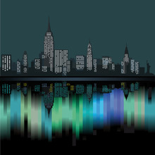 Papier Peint - New York City in der Nacht