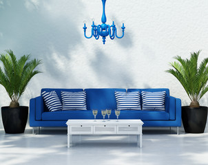 Contemporary  elegant mediterranean outdoor sofa