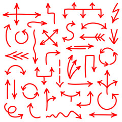 Arrows Scribble Set Red