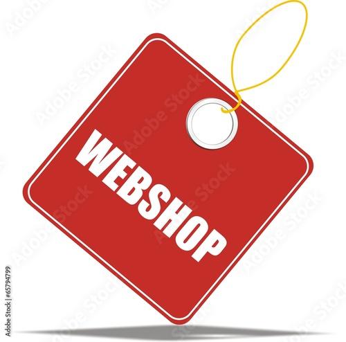 étiquette webshop