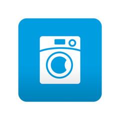 Etiqueta tipo app azul simbolo lavadora