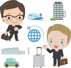 海外出張するビジネスマン
