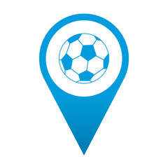 Icono localizacion simbolo futbol