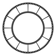 Film tape. Vector illustration.
