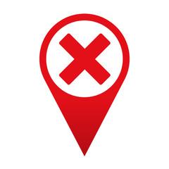 Icono localizacion simbolo error