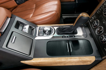 Business car interior.