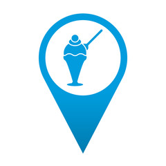 Icono localizacion simbolo heladeria