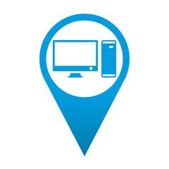 Icono localizacion simbolo ordenador