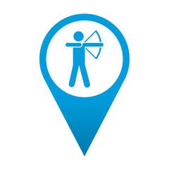Icono localizacion simbolo arquero