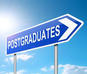 Postgraduate concept.