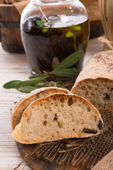 home-made olive ciabatta