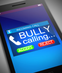 Bullying concept.
