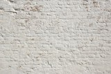 White grunge brick wall background poster