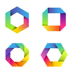 Colorful paper icons