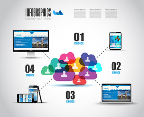 Modern Cloud Globals Services concept background