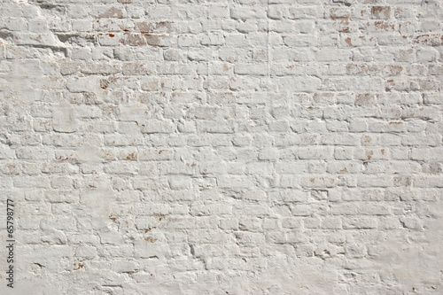 White grunge brick wall background