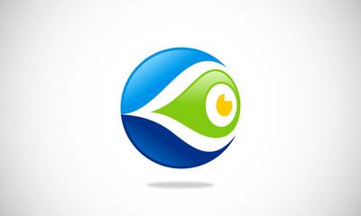 eye monitoring abstract logo
