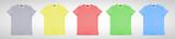 many color  tshirt