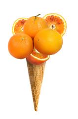 Cono gelato gusto arancia