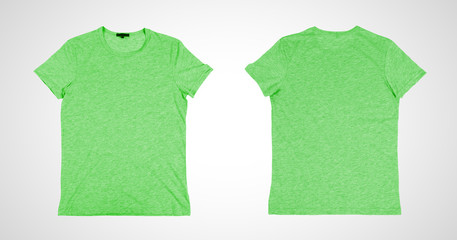 two green tshirt