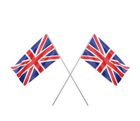 two crossed  Flag of  United Kingdom