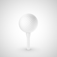 golf ball on stand