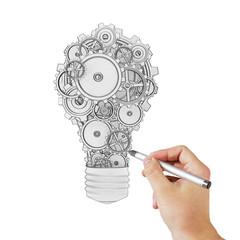 hand drawing lamp