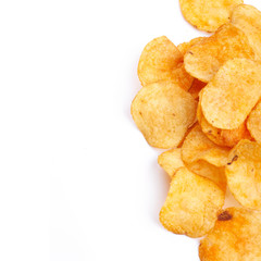 Chips isolated on white background