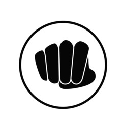 fist icon vector