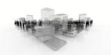 abstract blocks city - 65801351