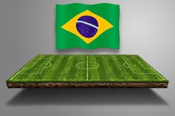 Fussball Spielfeld Schwebend, WM Brasilien