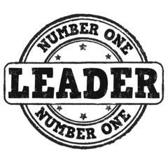 Number one, leader stamp