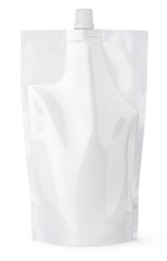 Spout pouch with cap or doy pack on white with clipping path