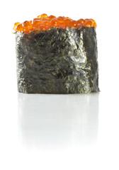 Sushi gunkan isolated on white background