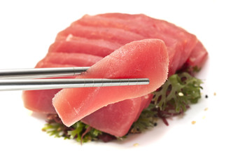 Tuna fillet isolated on white background