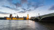 Big Ben and House of Parliament in London at Sunset